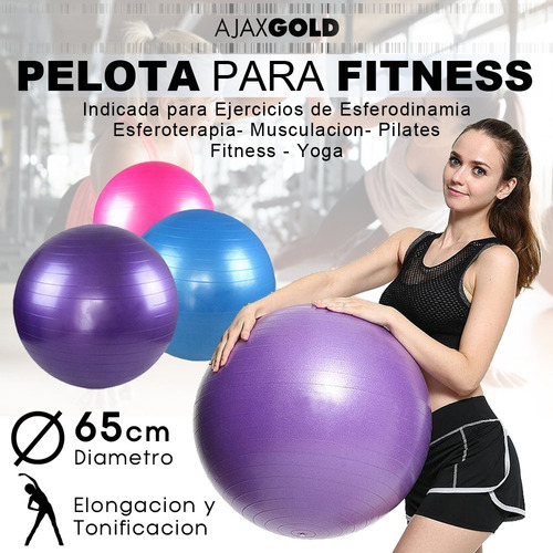 pelota yoga esferodinamia suiza 65 cm gym pilates ball