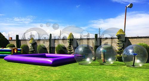 pelotas acuáticas - renta de inflables - esferas acuáticas