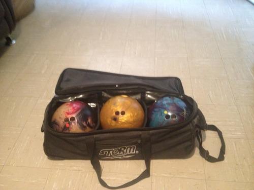pelotas de bowling con maletín storm poco uso