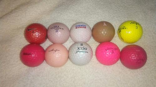 pelotas de golf colores