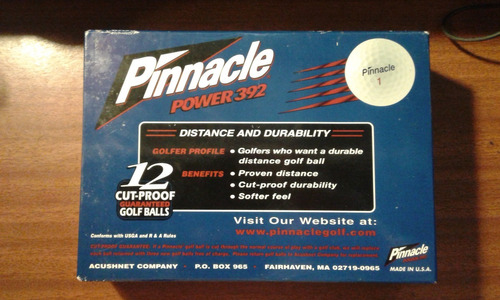 pelotas de golf pinnacle power 392