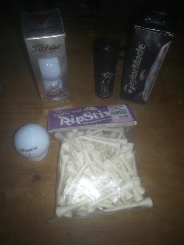 pelotas de golf  taylormade y tee de salida (madera) oferta