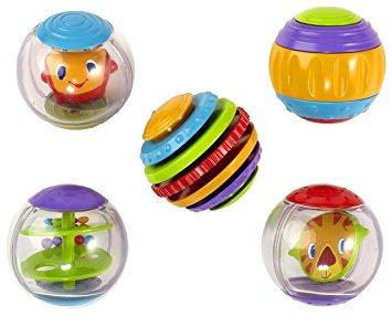 pelotas de juguete,brillante del comienzo del rollo de l..