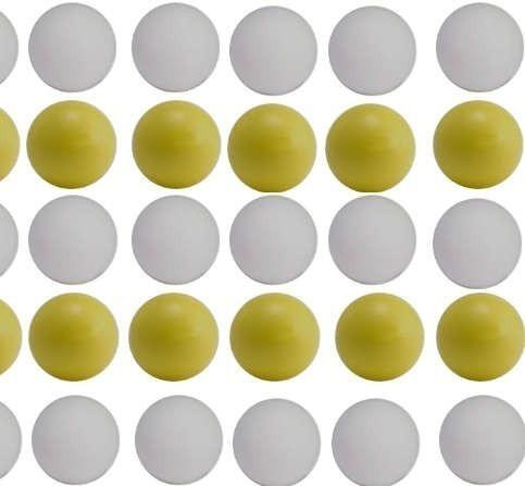 pelotas de metegol x 10 amarillas ó blancas stock permanente