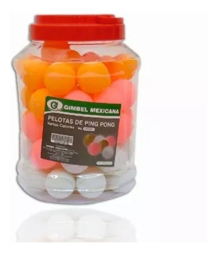 pelotas de ping pong bote con 60 pzas envio gratis calidad