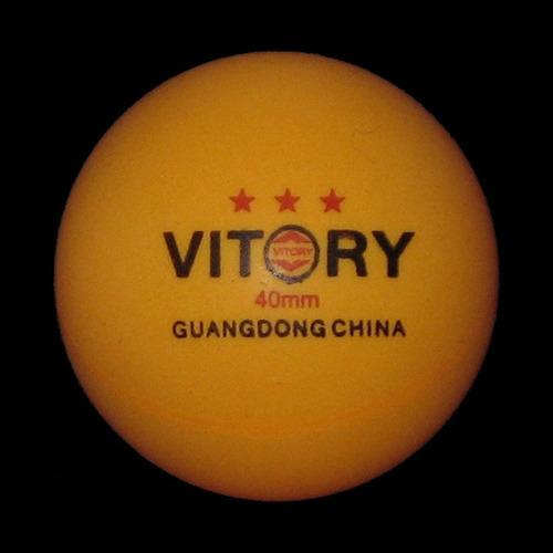 pelotas de ping pong vitory  caja de 6 unidades