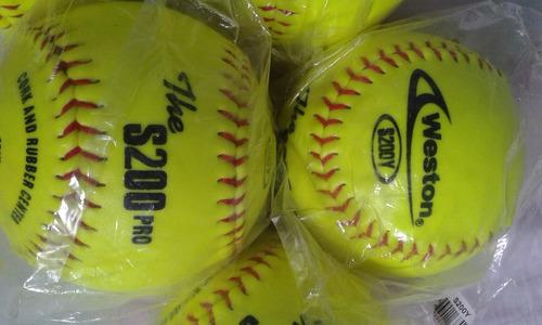 pelotas de softball wilson y forte official regalo oferta