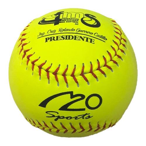 pelotas de softbol oficial fms a20 6 piezas amarillas
