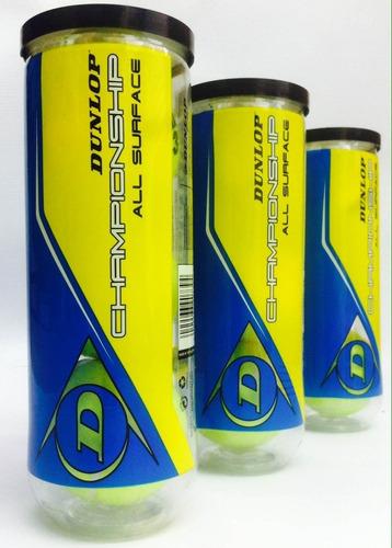 pelotas  dunlop  championship  caja x 24  tubos