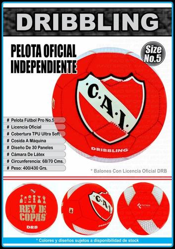 pelotas fútbol drb - licencia oficial afa - independiente