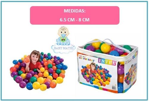 pelotas para piscina - juego de bebés y niños intex