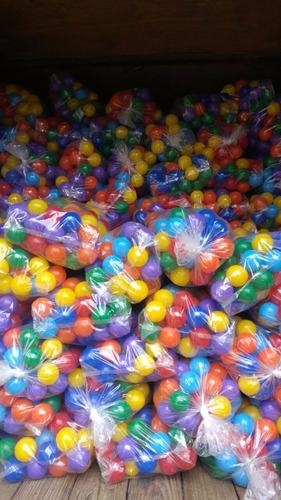 pelotas pelotero casitas o pileta pelotitas brillosas x 200