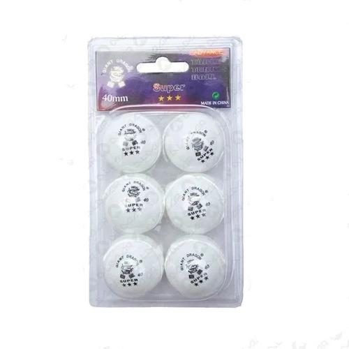 pelotas ping pong tenis de mesa giant dragon 3* caja x6 40+