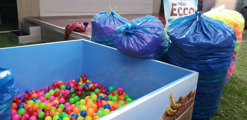 pelotas plasticas para piscina de 7 y 10cms millar y ciento