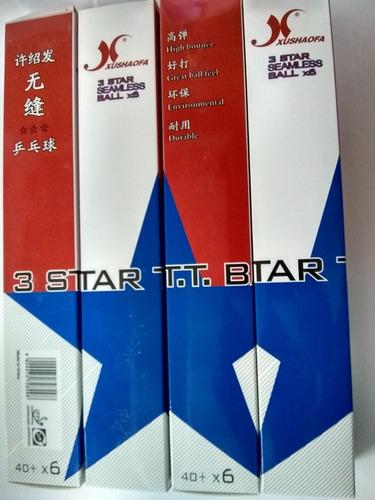 pelotas tenis de mesa xushaofa 3 estrellas (precio 1.5verds)
