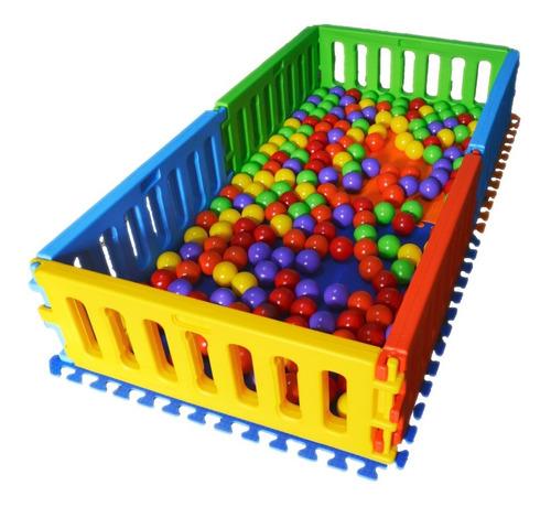 pelotero corralito bajo vegui 2x1mt + 200 pelotita + 2 pisos