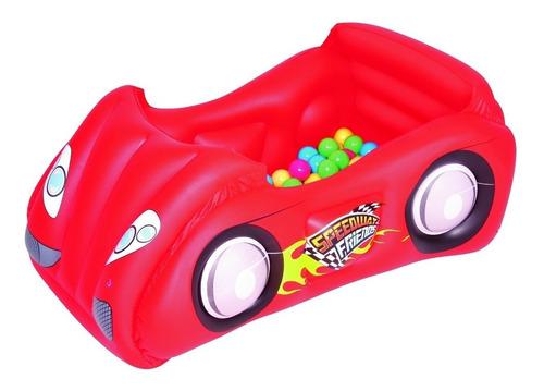 pelotero corralito inflable auto bestway con 50 pelotas