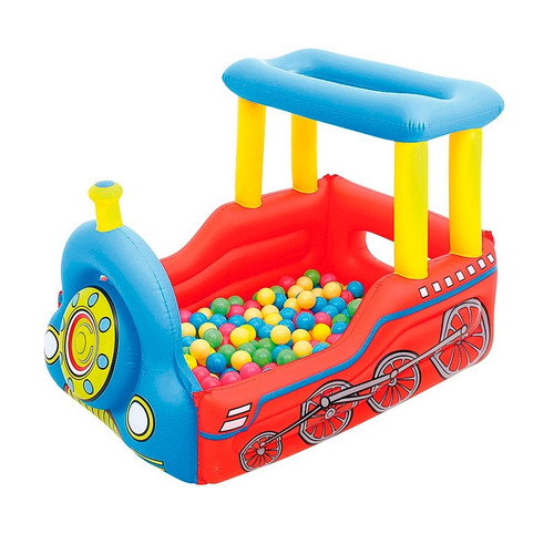 pelotero corralito inflable tren bestway con 50 pelotas over