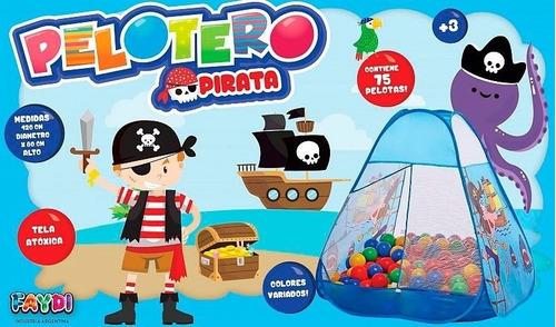 pelotero infantil pirata iglu autoarmable con 75 pelotas