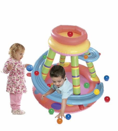 pelotero inflable para niños modelo pista ok baby