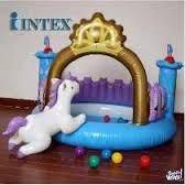 pelotero intex castillo con pelotas,unicornio e inflador