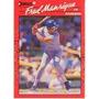 Barajita Fred Manrique Donruss 1990 # 165 Texas Rangers