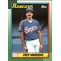 Bv Fred Manrique Texas Rangers Topps 1990 #242