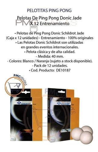 pelotitas de ping pong donic jade x 12 entrenamiento local