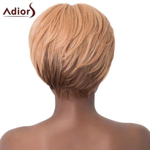 peluca adiors sintétic color ombre c/flequillo corta p/mujer