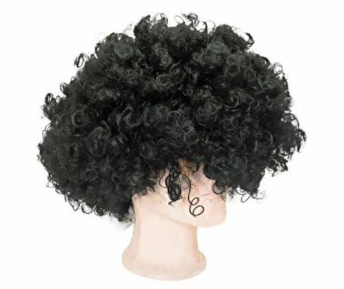 peluca afro para fiestas o evento tematicos tamaño mediano