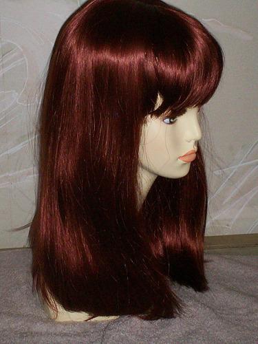 peluca carmel caoba  kenekalon mucha calidad 55cm # 130-72