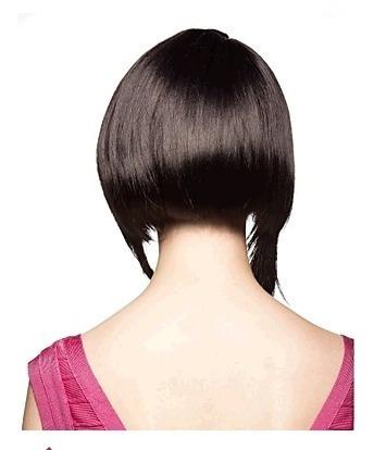 peluca carré con puntas largas simil natural alta calidad