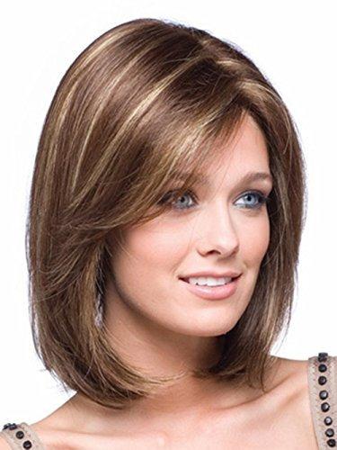 peluca corta para mujer, aspecto natural, cabello