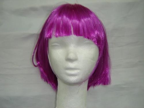 peluca cotillon luminoso fluo