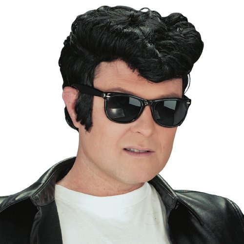 peluca de greaser del adulto 1950s