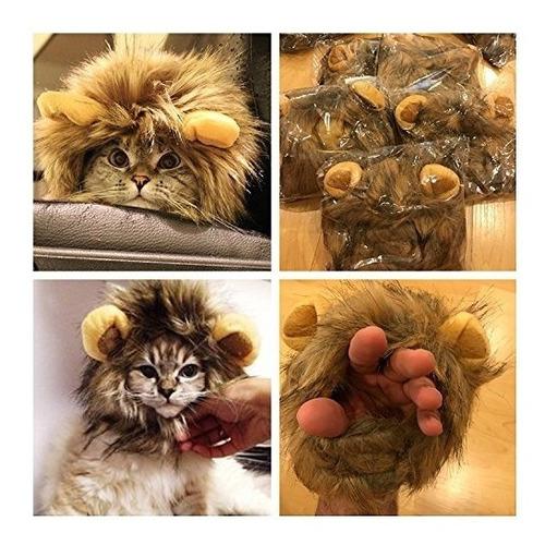 peluca de león mane para perro y gato traje de mascotas aju