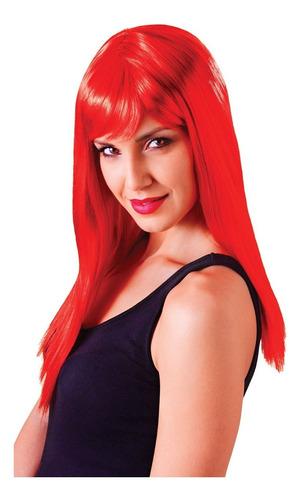 peluca lacia roja cotillón effa´s party