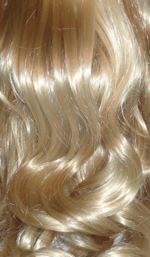 peluca larga c/bucles kanekalon importada rubio platino 60cm