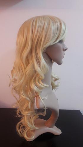 peluca larga c/ondas marcadas kanekalon importada