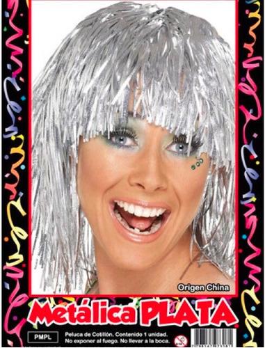 peluca metalizada (promo x50un) - barata la golosineria