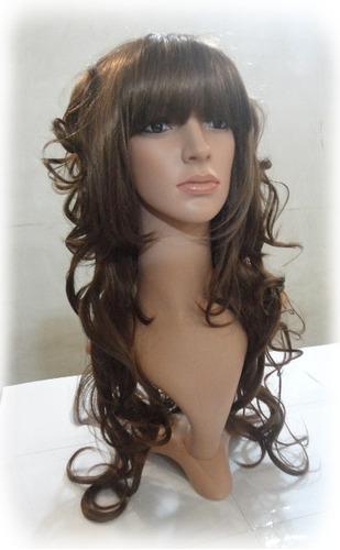 peluca muy larga 90cm hot resist calor muy tupida cascada