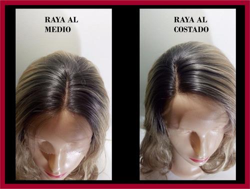 peluca natural 100 % humano d/150 lace front  50 cm lacio