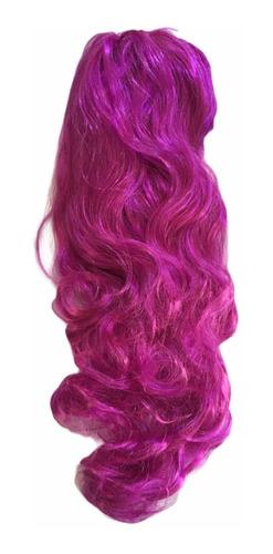 peluca ondulada personajes larga princesas disfraz sintetica