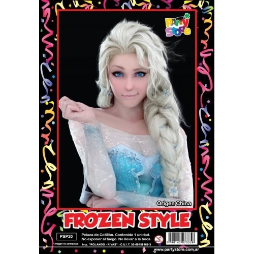 peluca sirenita princesa frozen campanita tinkerbell disfraz