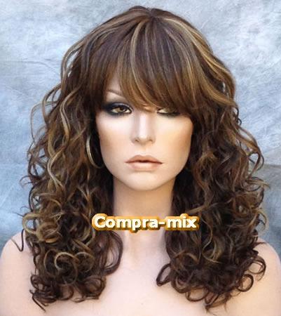 peluca super natural color castaño con destellos rubios vv4 2 999 00 en mercado libre