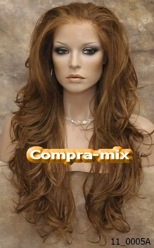 peluca super natural extra larga color cobre, vbf
