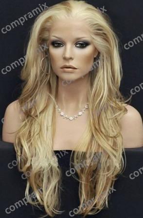 peluca super natural extra larga rubia