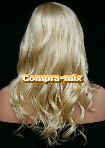 peluca super natural larga color rubia, daa