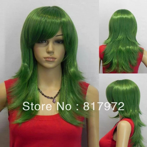 peluca verde guason joker disfraz cosplay anime dccomic