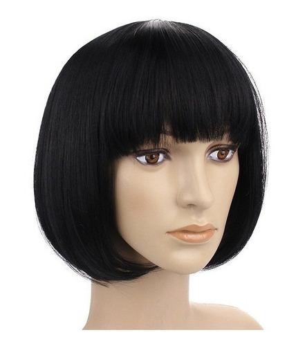 pelucas carré simil natural pelo colágeno termo opacas